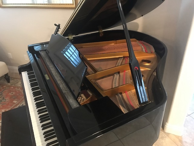 Wurlitzer High Gloss Baby Grand Piano with QRS Player Image 1